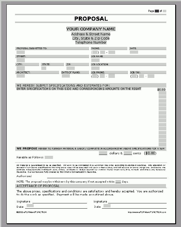 Business Proposal Templates Examples | Proposal / Quote Template ...