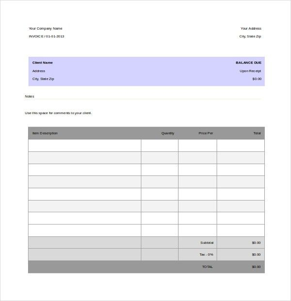 12+ Invoice Templates - Free Sample, Example, Format | Free ...