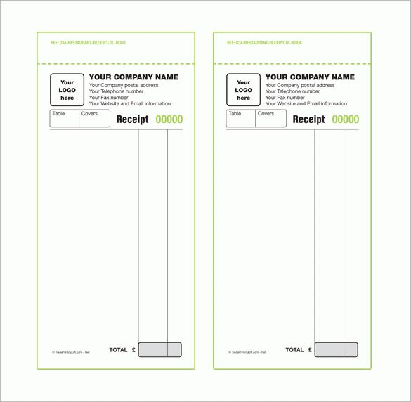 Receipt Book Template – 8+ Free Sample, Example, Format Download ...