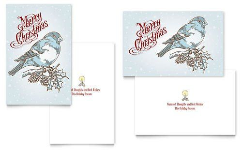 Holiday & Seasonal - Greeting Card Templates - Word & Publisher