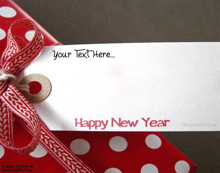Write Quote on Happy New Year Wish Cards Picture