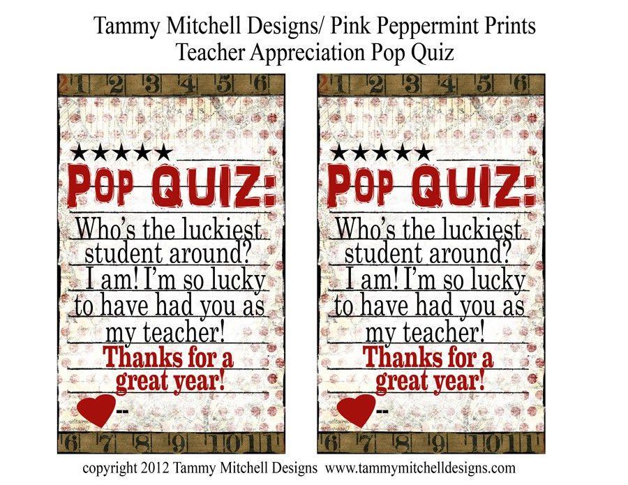 "Free Printable: Teacher Appreciation Week Easy Gift Idea ""Pop ..."