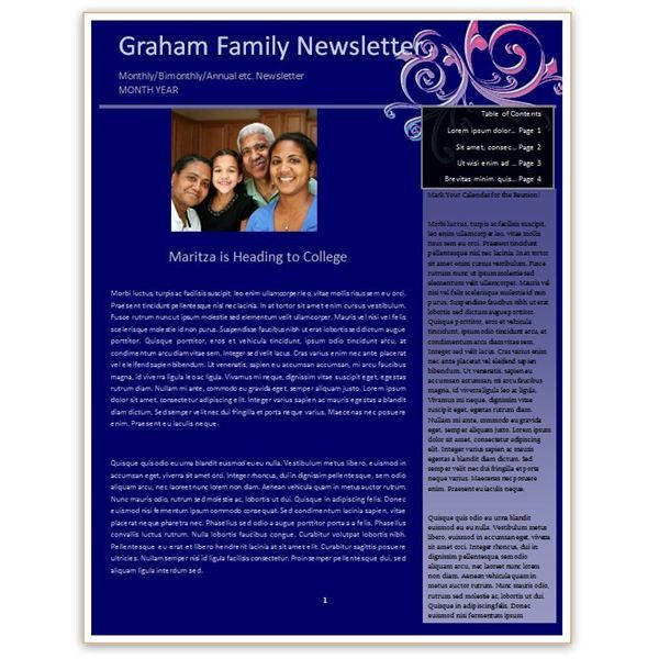 Making a Family Newsletter in Word: Tips and Templates to Download