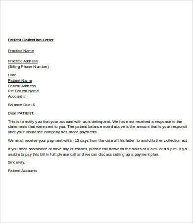 Collection Letter Template - 7+ Free Word, PDF Format Download ...