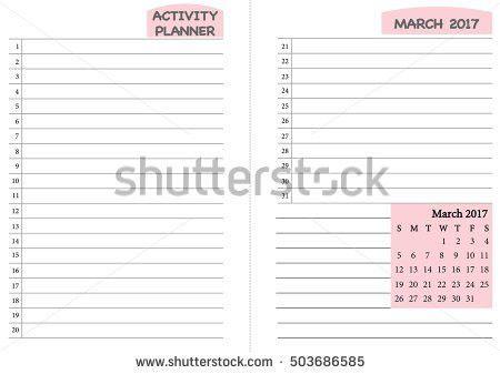June 2017 Calendar Template Monthly Planner Stock Vector 503686591 ...