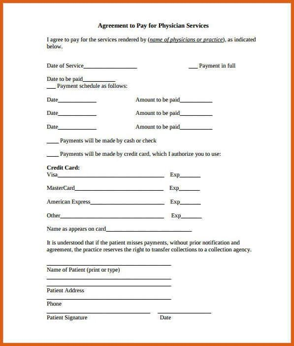 payment agreement template | apa examples