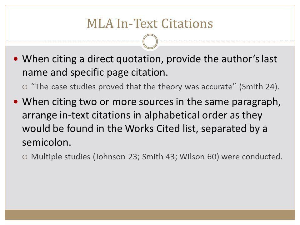 Citations Modern Language Association (MLA) - ppt video online ...