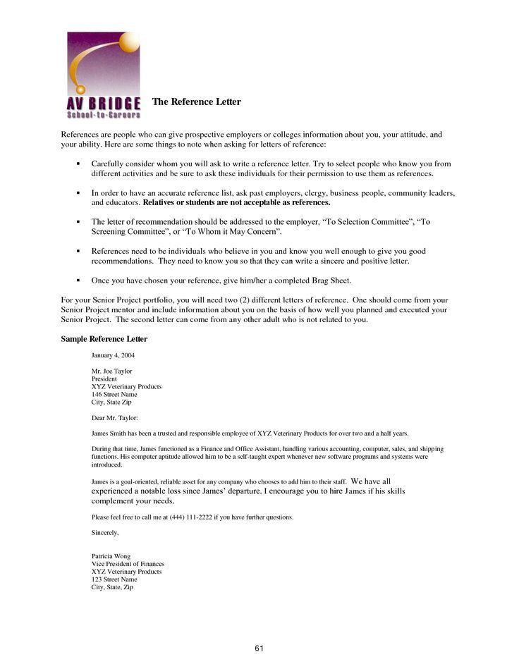 Best Immigration Reference Letter Sample – Letter Format Writing