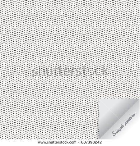 Simple Vector Pattern Black Thin Zigzag Stock Vector 607398242 ...