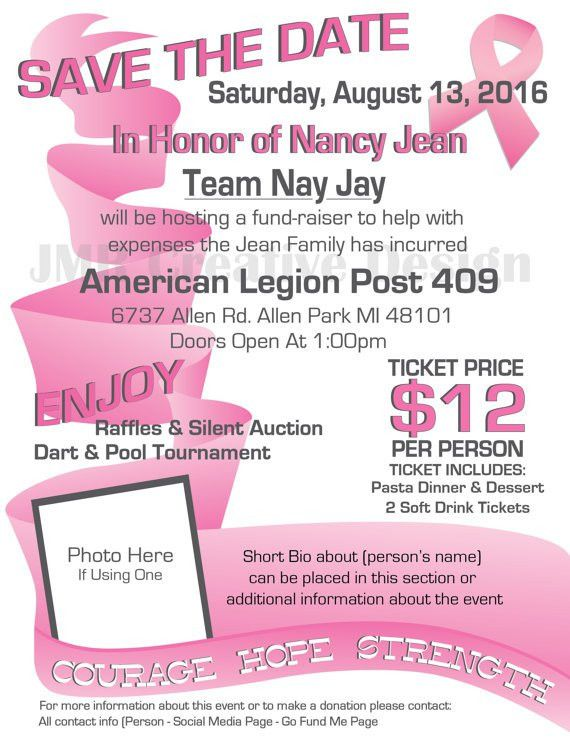 Breast Cancer Benefit Flyer / Courage Hope by JMRCreativeDesign ...