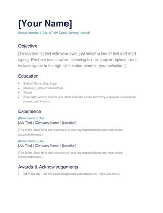 sample resume templates word free resume templates for word the ...