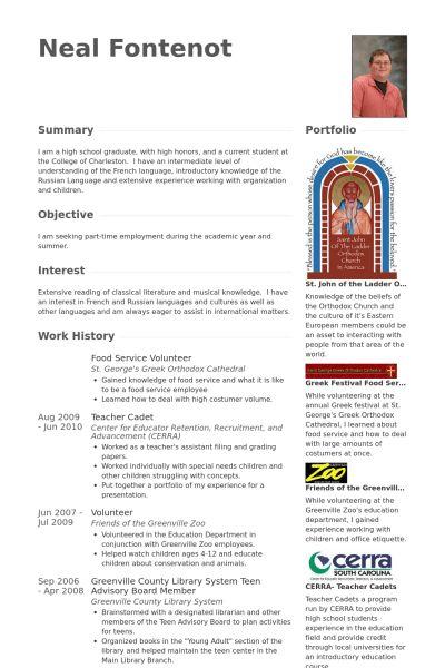 Food Service Resume samples - VisualCV resume samples database