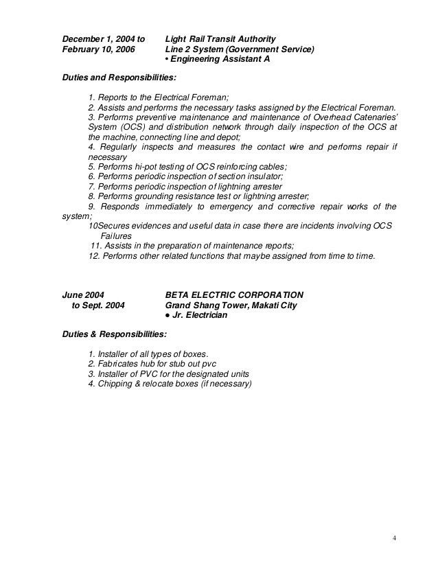 electrician jobs description and responsibility. choose. skills ...