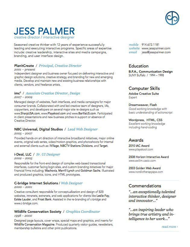 18 best resume examples images on Pinterest | Resume examples ...