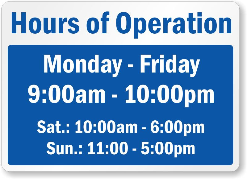 hours of operation template microsoft word - Template