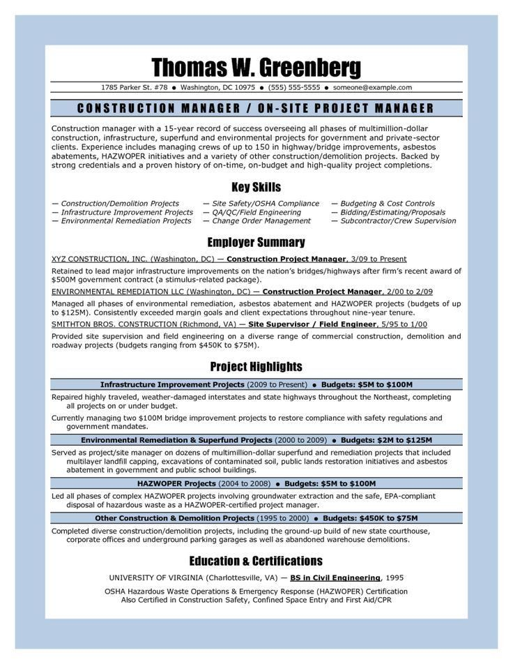 Best 25+ Project manager resume ideas on Pinterest | Project ...