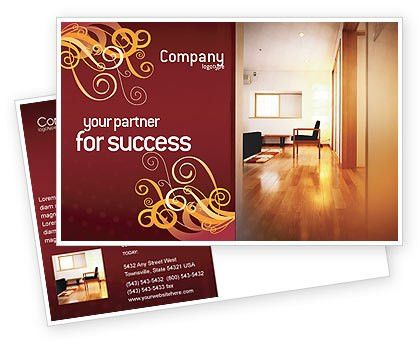 Apartment Design Postcard Template in Microsoft Word, Adobe ...