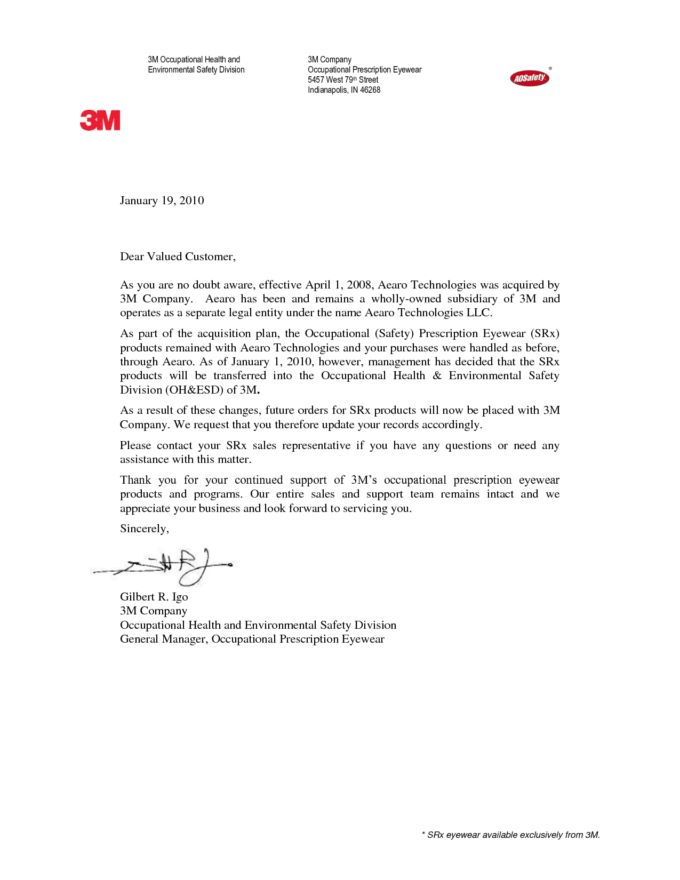 Professional Announcement Template Letter for Business : Vlcpeque
