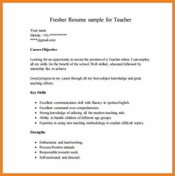 Job Resume Format Free Download. Resume Format Pdf For Freshers ...