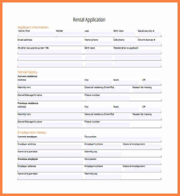 8+ sample rental application form | Invoice Example 2017