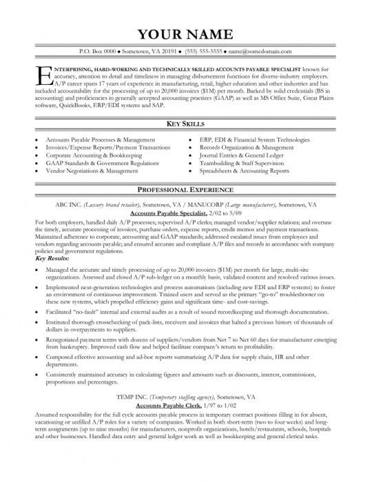 Brilliant Accounts Payable Supervisor Resume | Resume Format Web