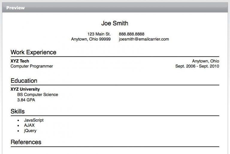 Best Easy Resume Builder Strikingly - Resume CV Cover Letter