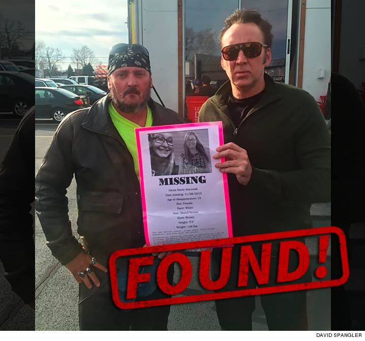 Nicolas Cage Hailed for Helping Track Down Missing Girl | TMZ.com