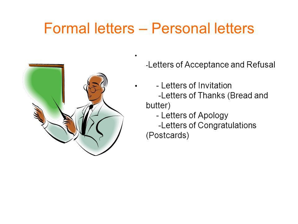 Formal letters – Personal letters - ppt video online download