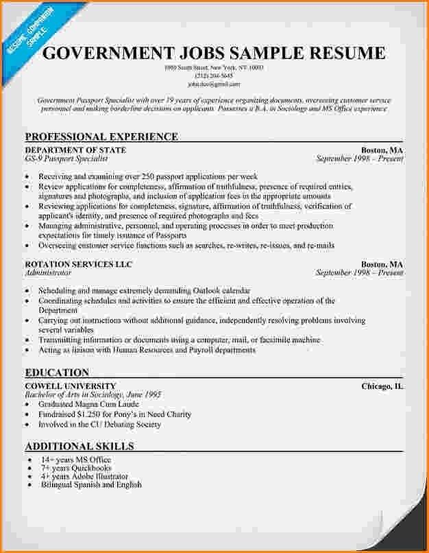 Federal Government Resume Sample, federal financial analyst resume ...