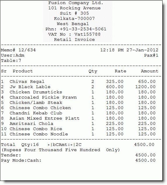 6+ food bill format in word | Financial Statement Form
