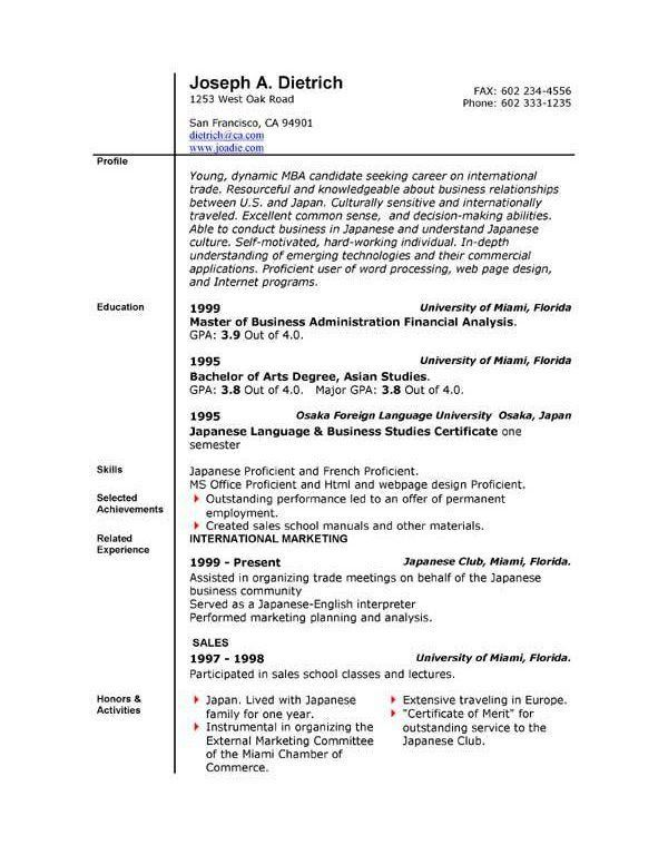 Fancy Idea Executive Resume Template Word 6 Free Sales - Resume ...