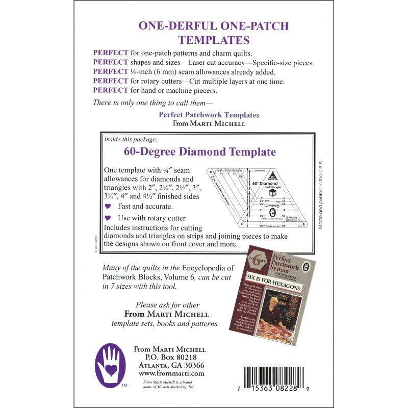 Michell 60 Degree Diamond Patchwork Template
