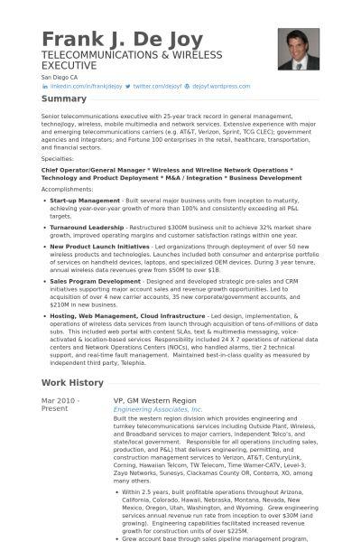 Gm Resume samples - VisualCV resume samples database