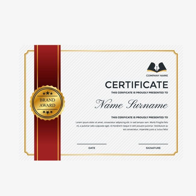 Gold Border English Certificate Template, Certificate Template ...