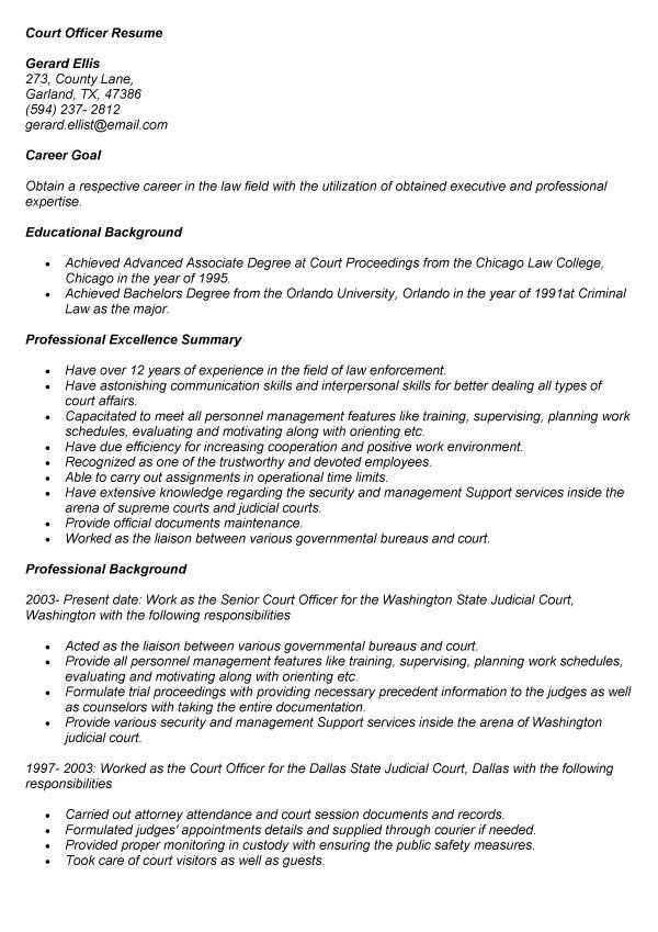 Employment Officer Resume / Sales / Officer - Lewesmr