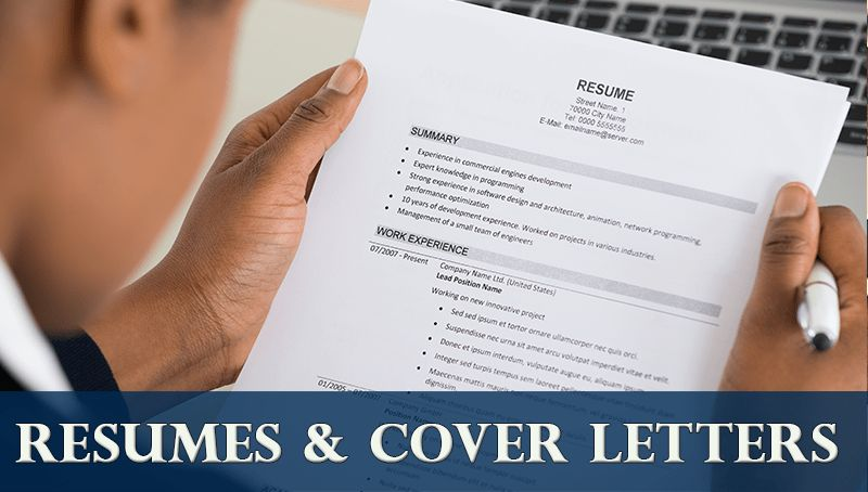 Career Center - Resumes / Cover Letters