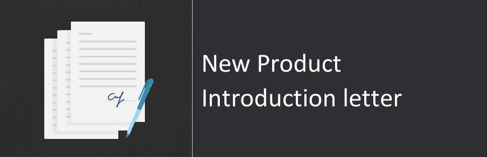 New Product Introduction letter, Sample & Format