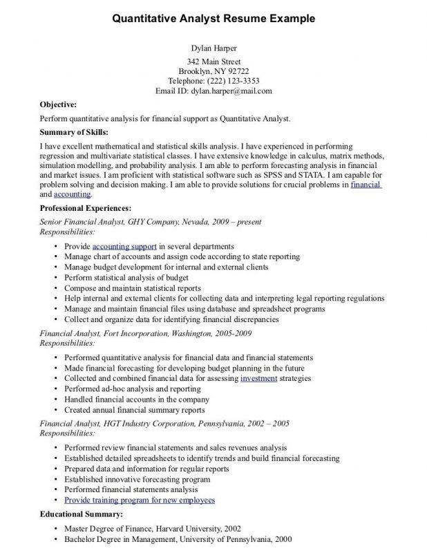 quant cover letter