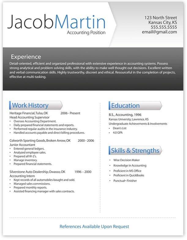 Free Printable Resume Template | Template Design