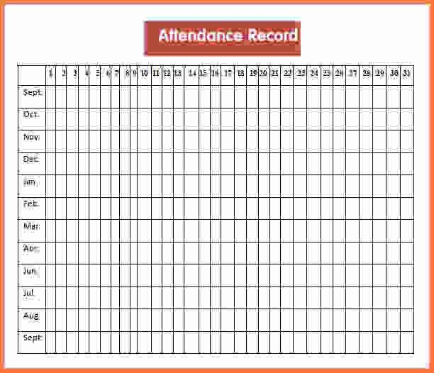 Attendance Sheet Pdf.Attendance Record Template.jpg - Sales Report ...