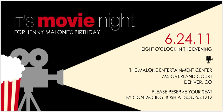 Party Invitations: Best Movie Party Invitations Detail Ideas Cool ...