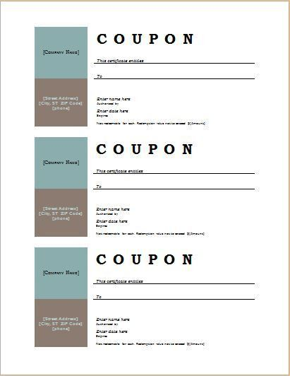 How to Make Coupons with Sample Coupon Templates | Word Document ...