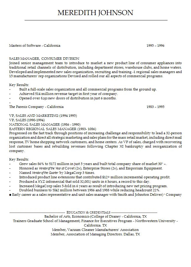 Good opening statements for resume