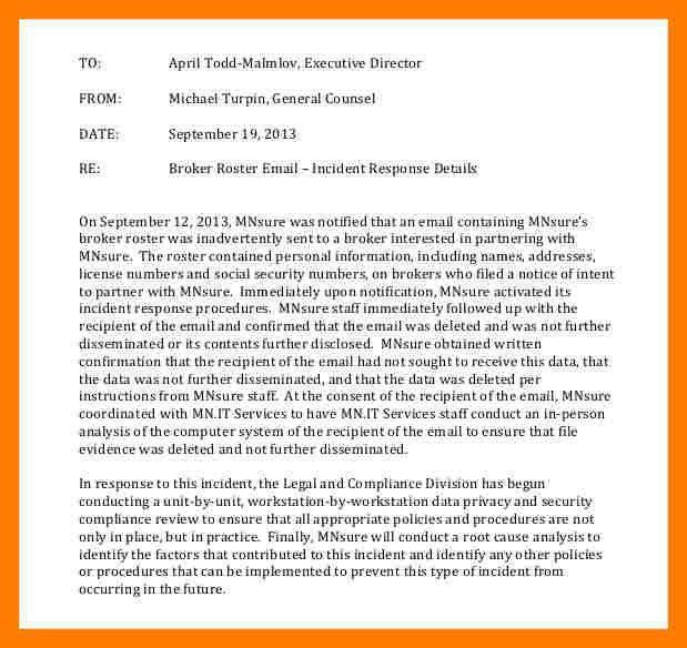 4+ incident report email sample | teller resume