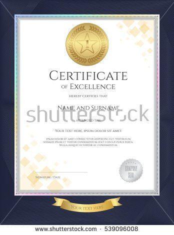 Elegant Certificate Template Excellence Achievement Appreciation ...