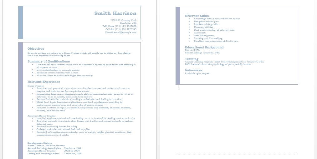 Trainer Resumes – Sample Resumes