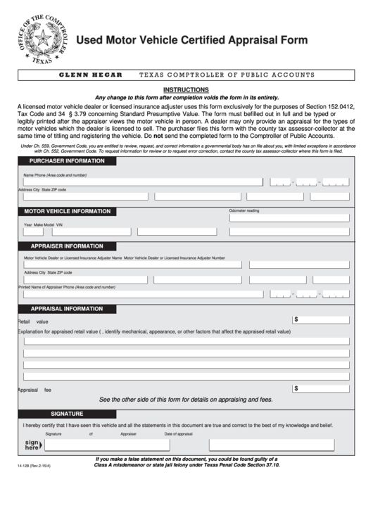 Top Vehicle Appraisal Form Templates free to download in PDF, Word ...