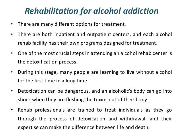 Treatment and rehabilitation of drug addiction