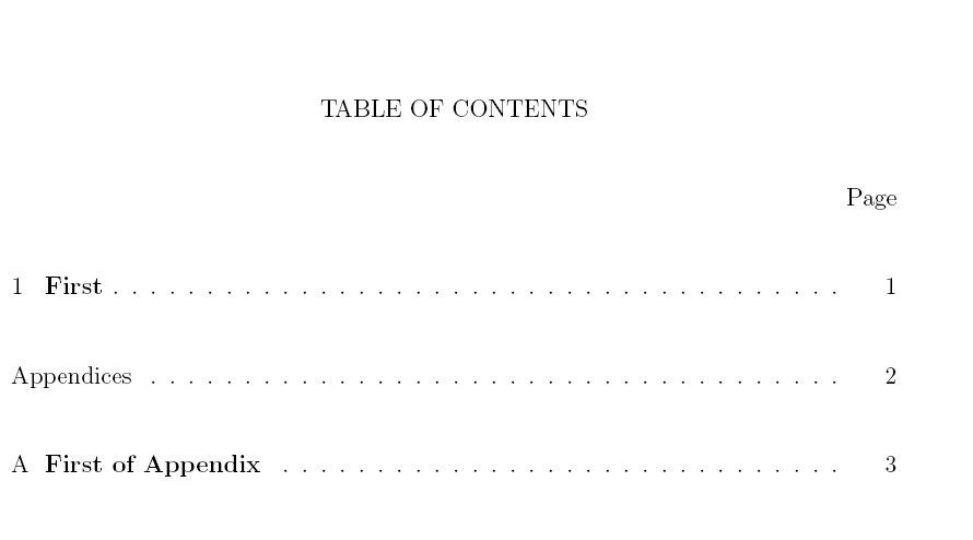 Appendices - Adding Appendix To Table Of Contents Using Wuthesis ...