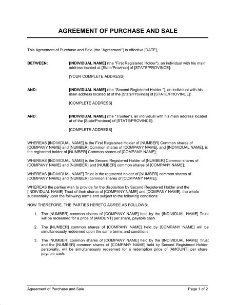 Conditional Sale Agreement - Template & Sample Form | Biztree.com